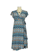 Uma Wrap Maternity Dress (Palermo Print) by Everly Grey