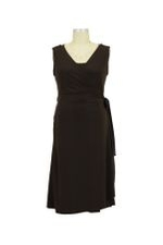 Luxe Jersey Sleeveless Nursing Wrap Dress (Espresso) by Japanese Weekend