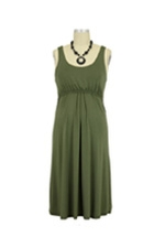 Ying Anytime Sleeveless Nursing Dress (Olive) by Larrivo