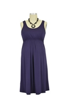 Ying Anytime Sleeveless Nursing Dress (Dark Purple) by Larrivo