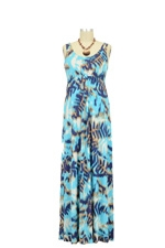 Ying Anytime Maxi Nursing Dress (Blue Tribal Print) by Larrivo