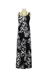 Ying Anytime Maxi Nursing Dress (Black and White Print) by Larrivo