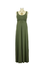 Ying Anytime Maxi Nursing Dress (Olive) by Larrivo