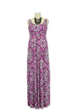 Ying Anytime Maxi Nursing Dress (Pink Pucci Print) by Larrivo