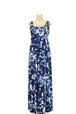 Ying Anytime Maxi Nursing Dress (Blue & White Print) by Larrivo