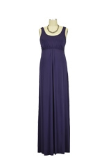 Ying Anytime Maxi Nursing Dress (Dark Purple) by Larrivo