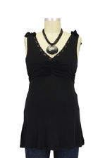 Peek-a-boo Lacy Nursing Top (Black) by Peek-a-boo