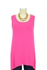Jackie Sleeveless Swing Nursing Top (Pink) by Milkstars
