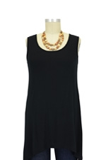 Jackie Sleeveless Swing Nursing Top (Black) by Milkstars