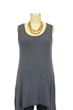 Jackie Sleeveless Swing Nursing Top (Grey) by Milkstars