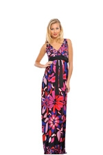 Nicole Maxi Maternity Dress (Floral Print) by Olian