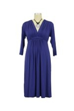 Lucy 3/4 Sleeve Maternity Dress (Persian Blue) by Olian