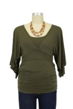 Temma D&A Nursing Top (Olive) by Japanese Weekend