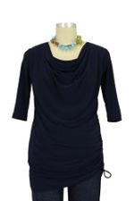 Parker D&A Cowl Nursing Top (Navy) by Japanese Weekend