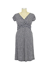 Hillary D&A Luxe Nursing Dress (Navy Chain) by Japanese Weekend