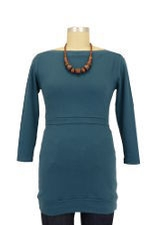 D&A Cotton Boatneck Nursing Top (Teal) by Japanese Weekend