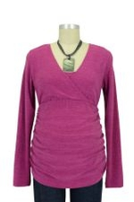 Helen D&A Surplice Nursing Sweater (Magenta) by Japanese Weekend