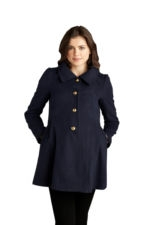 Adorable Pea Maternity Coat (Navy) by Maternal America