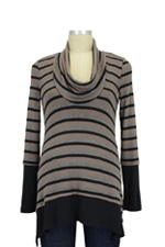 Penelope Nursing Sweater (Stripes with Black) by Maternal America