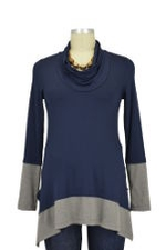 Penelope Nursing Sweater (Navy with Heather Gray) by Maternal America