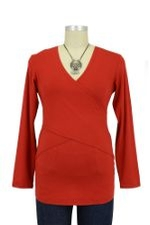 Embrace Nursing Top - Long Sleeve (Red) by Ripe Maternity