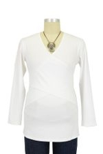 Embrace Nursing Top - Long Sleeve (White) by Ripe Maternity