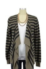 Allie Stripes Maternity & Nursing Cardigan (Hazel Marle & Coal) by Ripe Maternity