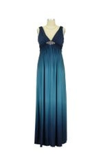 Andrea Ombre Maternity Gown (Teal/Navy) by Love My Belly