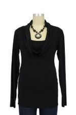 Gabi Cowl Nursing Top (Black) by Noppies