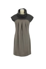 Famous Turtleneck Maternity Dress (Mink) by Jules & Jim