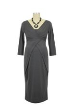 Holly Nursing Dress (Graphite) by 9fashion
