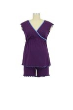 D&A Surplice Nursing Top w/Shorts (Purple) by Japanese Weekend