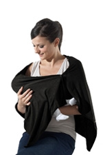 Bamboo Nursing Wrap (Black) by Mothers en vogue