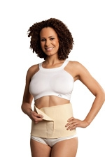Carriwell Seamless Organic Cotton Belly Binder (Natural) by Carriwell