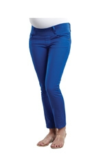 Maternal America Skinny Ankle Maternity Jeans (Royal) by Maternal America