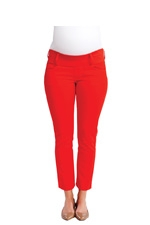 Maternal America Skinny Ankle Maternity Jeans (Cherry) by Maternal America
