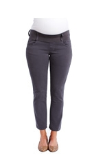 Maternal America Skinny Ankle Maternity Jeans (Cement) by Maternal America