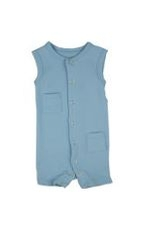 L'ovedbaby Boy Shortalls (True Blue) by L'ovedbaby