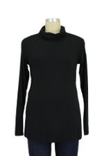 Cara Long Sleeve Turtleneck Nursing Tee (Black) by Mothers en vogue