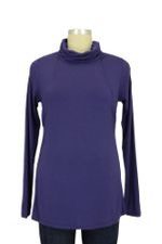 Cara Long Sleeve Turtleneck Nursing Tee (Deep Wisteria) by Mothers en vogue