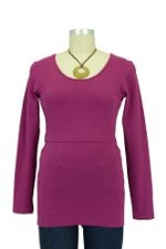 Boob Long Sleeve Nursing Top (Berry) by Boob