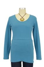 Boob Long Sleeve Nursing Top (Pacific) by Boob