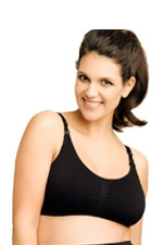 Ripe Seamless Nursing Bra (Black) by Ripe Maternity