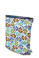 Planet Wise Medium Wet Bag (Monkey Fun) by Planet Wise