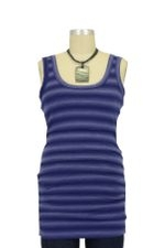 Peek-a-boo Classic Nursing Tank (Navy Tie Dye Stripes) by Peek-a-boo