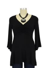 Peek-a-boo Origami Nursing Top (Black) by Peek-a-boo