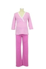 Henrieke Nursing Pajama (Fuschia & White Stripe) by Bellybutton Maternity