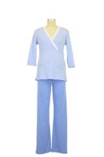 Henrieke Nursing Pajama (Light Blue & White Stripe) by Bellybutton Maternity