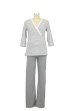 Henrieke Nursing Pajama (Grey & White Stripe) by Bellybutton Maternity