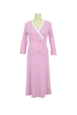 Levke Nursing Night Dress (Fuschia & White Stripe) by Bellybutton Maternity